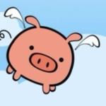 sweet pink pig